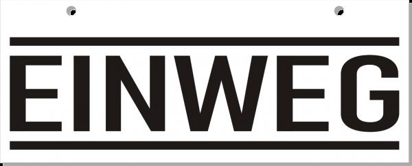 Einweg-Schild 250mm (§32 VerpackG), mit Lochung