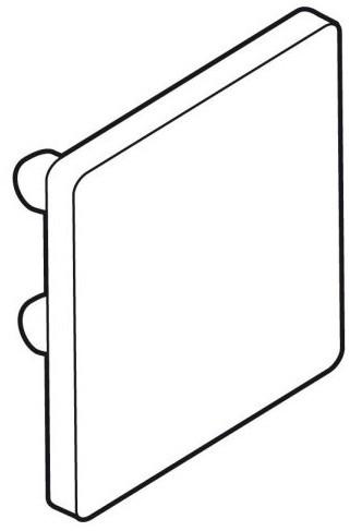 Endkappe für Alu-Plakatschiene 20x20mm