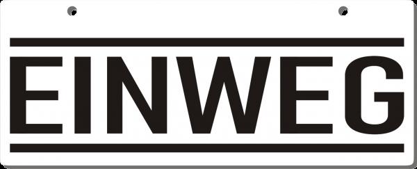 Einweg-Schild 250mm (§32 VerpackG), mit Lochung, gerundete Ecken