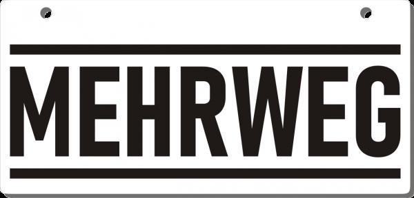 Mehrweg-Schild 210mm (§32 VerpackG), mit Lochung, gerundete Ecken