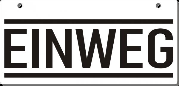 Einweg-Schild 210mm (§32 VerpackG), mit Lochung, gerundete Ecken