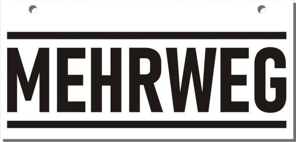 Mehrweg-Schild 210mm (§32 VerpackG), mit Lochung