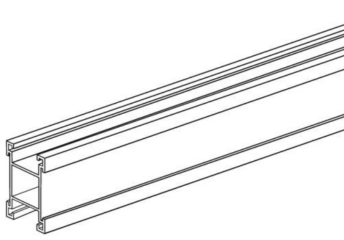 Alu-Plakatschiene 20x20mm, Länge 2000mm