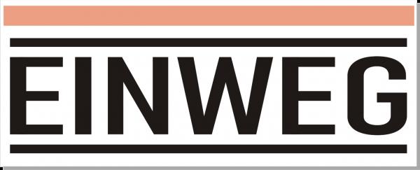 Einweg-Schild 250mm (§32 VerpackG), mit doppelseitigem Klebeband