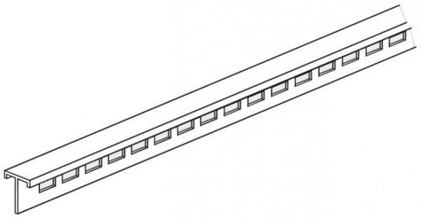 Lochleiste für Alu-Plakatschiene 20x20mm, Länge 2000mm